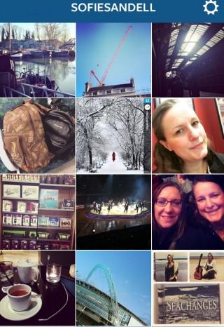 Sofie Sandell in Instagram