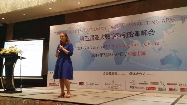 Sofie Sandell speaks in China