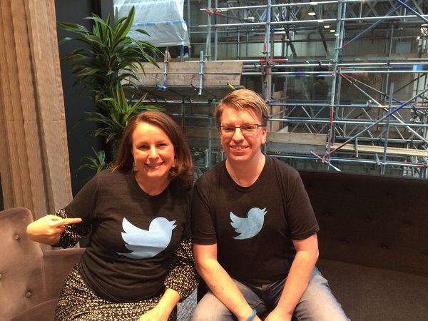 Sofie Sandell visits Twitter in london