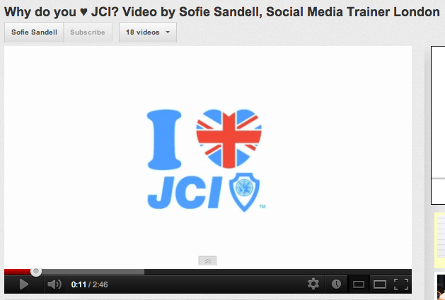 Sofie Sandell, JCI video on YouTube.