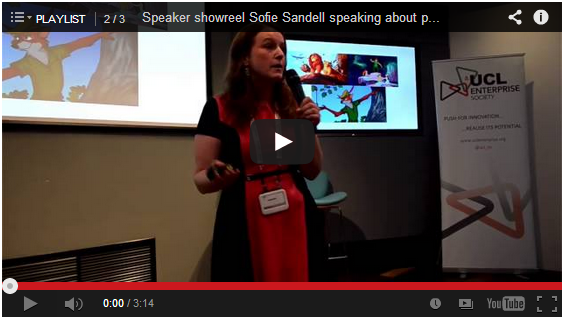 speaker showreel - Sofie Sandell speaking about personal branding
