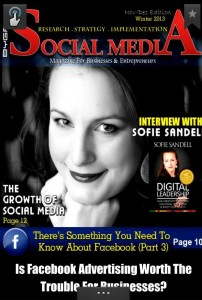 Sofie Sandell on the cover of a magazine about Social Media