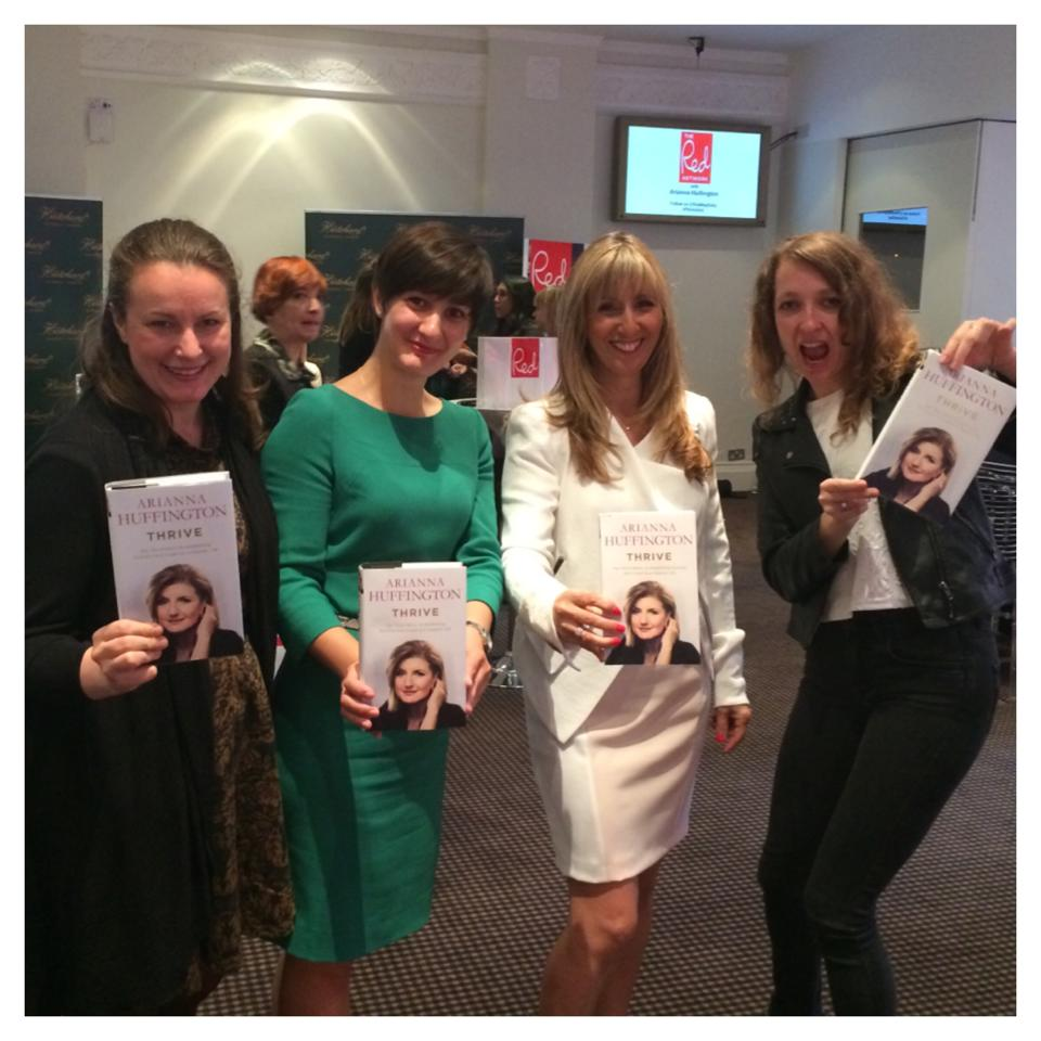 Arianna Huffington at BAFTA in London - we all have her book, yay!