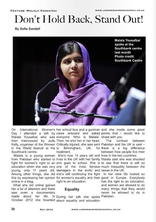 Malala article