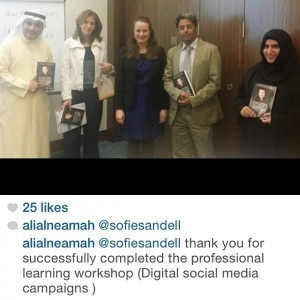 Social media course delegates in Kuwait