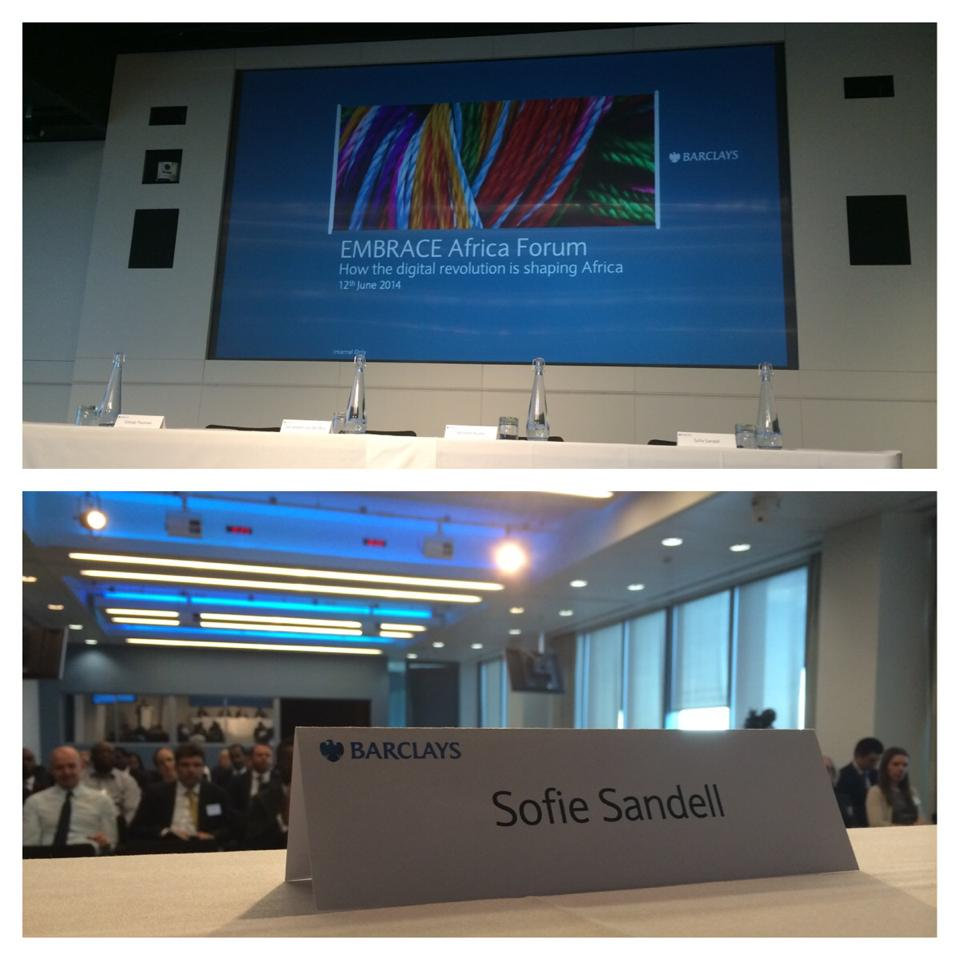 'How the digital revolution is shaping Africa' at Barclays London Sofie Sandell 2