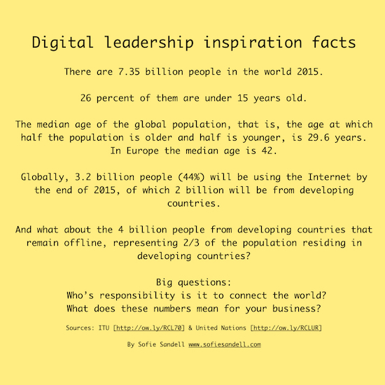 Digital leadership inspiration facts Sept 2015 by Sofie Sandell