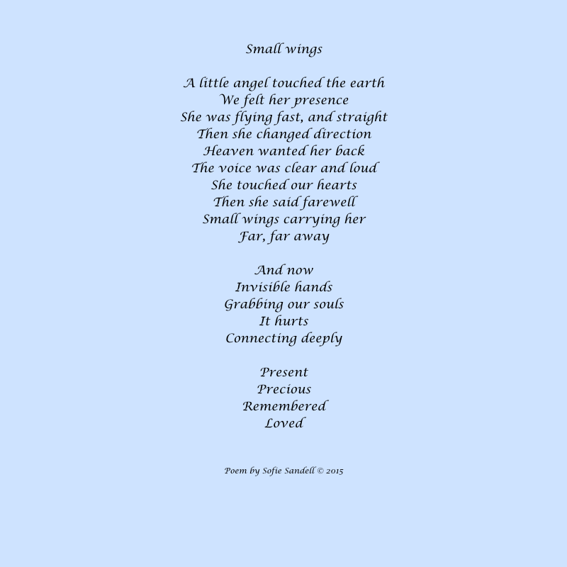 Small wings poem by Sofie Sandell