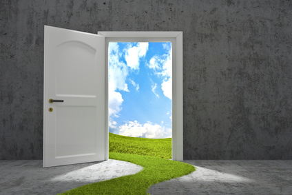 A door opening to new possibilities