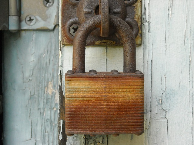 An old rusty padlock