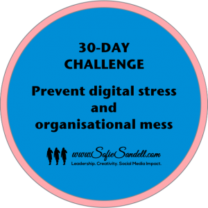 30-day challenge prevent digital stress and organisational mess with Sofie Sandell
