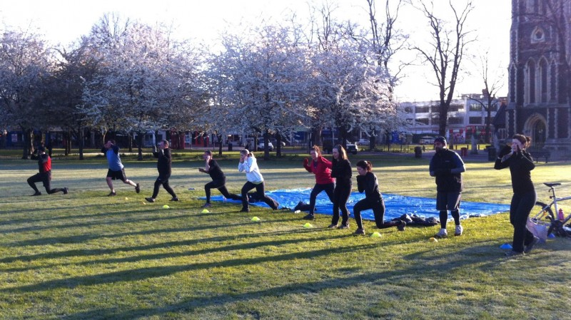 Urban vitality Bootcamp in the morning